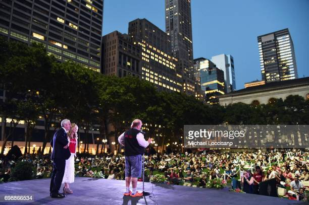 Chef Mario Batali speaks onstage during EAT Food Film Fest at Bryant Park on June 20 2017 in New York City Photo by Michael Loccisano/Getty Images for