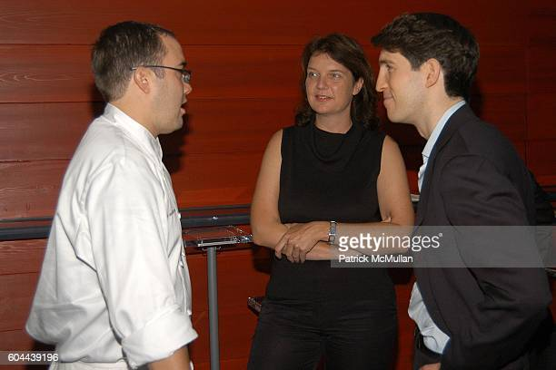 Chef Mark Andelbradt Gabi Saure and Ted Zagat attend ECLIPSE and ZAGAT SURVEY 2006 'Dare to Dine Guide' Launch Party at Morimoto on August 15 2006 in...