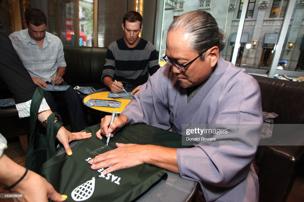Chef <a gi-track='captionPersonalityLinkClicked' href=/galleries/search?phrase=Masaharu+Morimoto&family=editorial&specificpeople=3286208 ng-click='$event.stopPropagation()'>Masaharu Morimoto</a> attends Taste Of Tennis Week: Taste Of Tennis Gala at the W New York on August 21, 2014 in New York City.