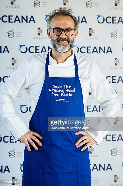 chef Massimo Bottura attend 'Save the Oceans Feed the World' at Basque Culinary Center on March 17 2015 in San Sebastian Spain