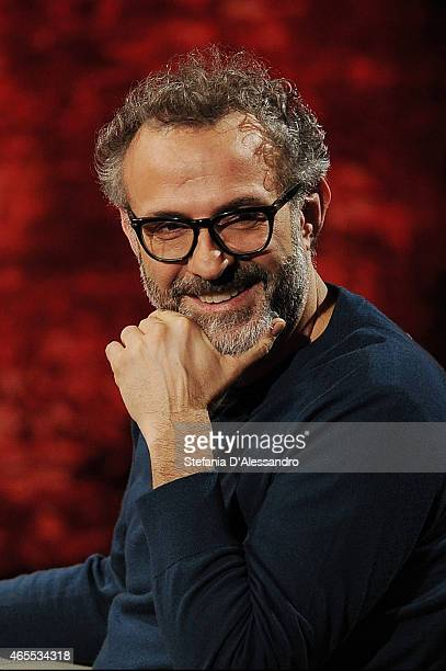 Chef Massimo Bottura attends 'Che Tempo Che Fa' TV Show on March 7 2015 in Milan Italy