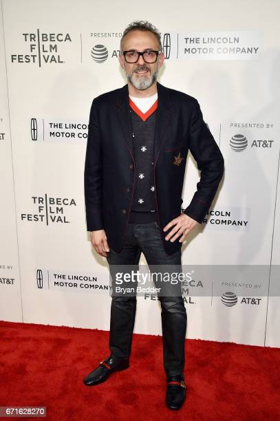 Chef Massimo Bottura attends 'WASTED The Story Of Food Waste' premiere on April 22 2017 in New York City