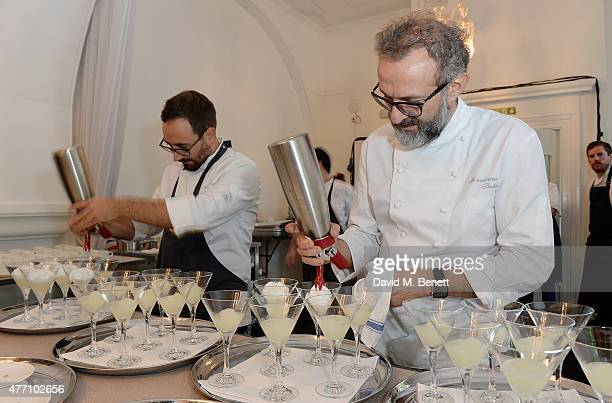 Chef Massimo Bottura during the brunch for REDA in collaboration with The Woolmark Company and Magnum celebrating 150 years at One Marylebone on June...