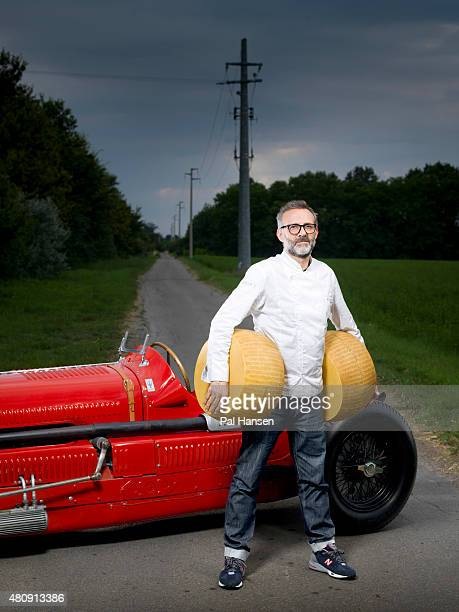 Chef Massimo Bottura is photographed for the Observer on August 19 2014 in Modena Italy