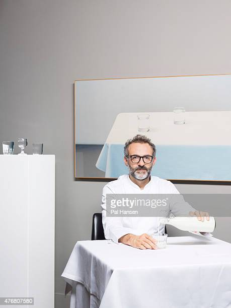 Chef Massimo Bottura is photographed for the Observer on July 4 2014 in Modena Italy