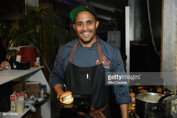 Chef Michael Jenkins of Butter attends the Food Network Cooking Channel New York City Wine Food Festival Presented By CocaCola Blue Moon Burger Bash...