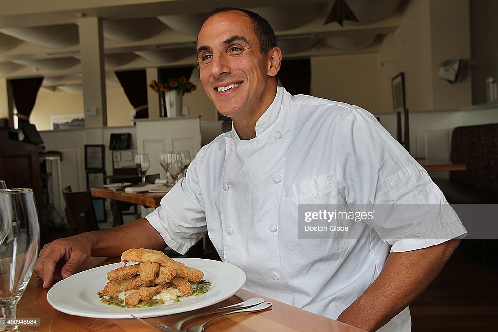 Chef Michael Leviton of the West Newton Mass restaurant Lumiere participates in this fall's 'Eating with the Ecosystem' He made crispy alewives with...