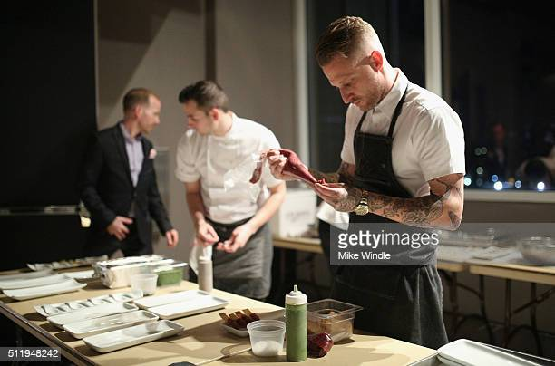 Chef Michael Voltaggio attends smartwater sparkling celebrates Jennifer Aniston and St Jude's Children's Hospital at W Hollywood on February 23 2016...