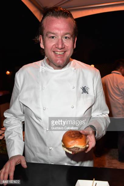 Chef Michael White from Vaucluse competes in Heineken Light Burger Bash Presented by Schweid Sons Hosted by Rachael Ray on February 24 2017 in Miami...