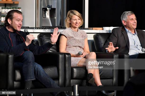 Chef Michael White of Ai Fiori Samantha Brown host from PBS and the Travel Channel and Ralph Scamardella head chef of Tao Group speak on the Inside...