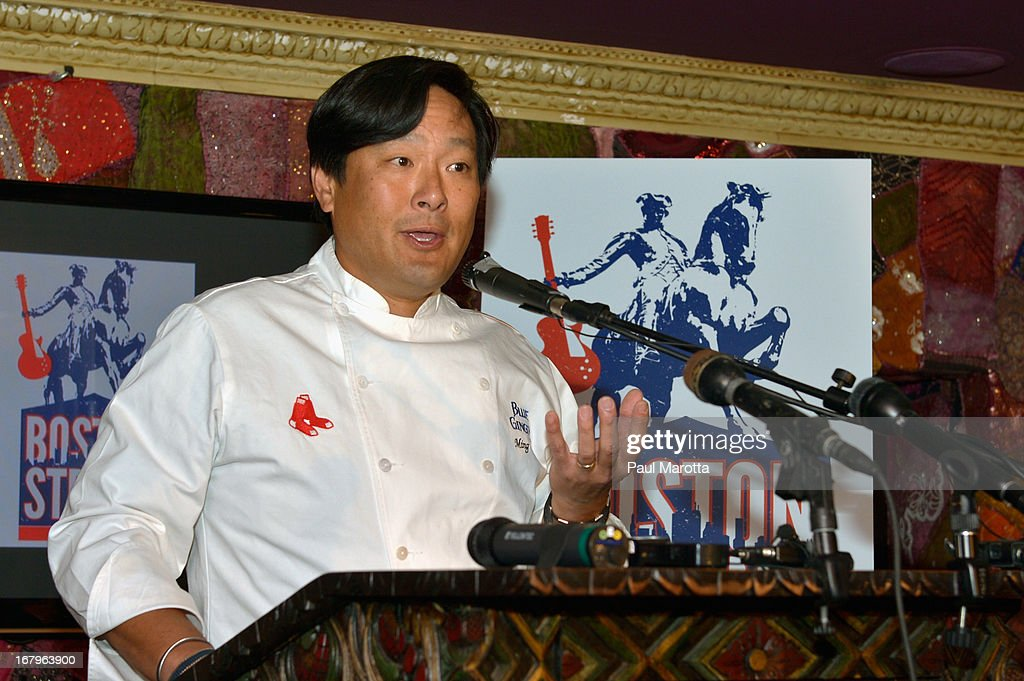 Chef Ming Tsai attends the Live Nation and TD Bank Garden press conference for The One Fund Benefit concert at House of Blues Boston on May 3, 2013 in Boston, Massachusetts.