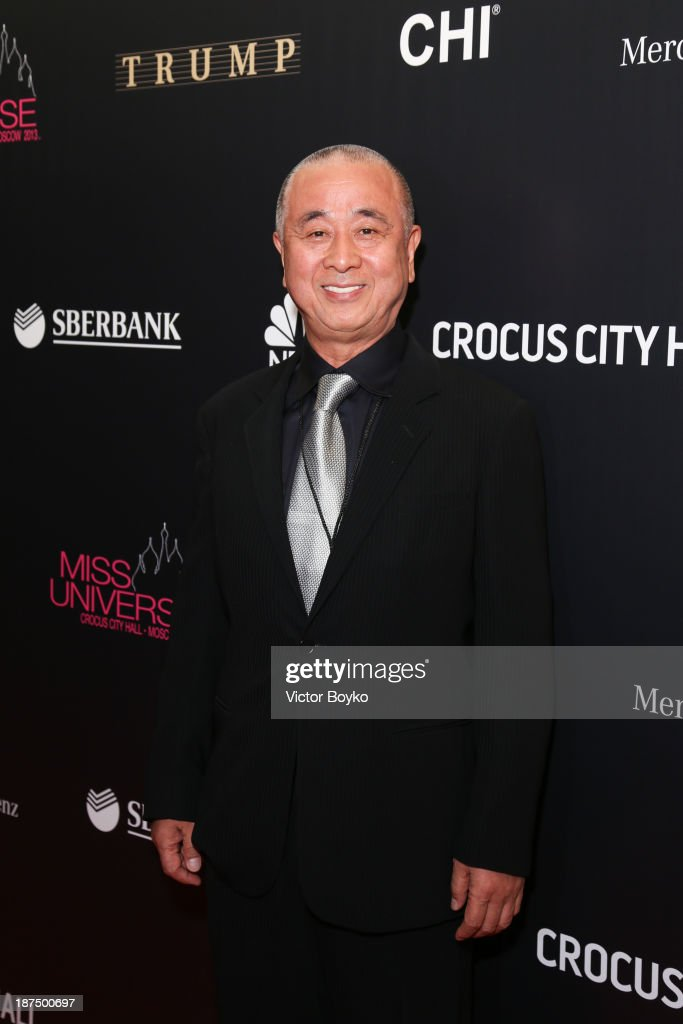 Chef Nobu attends the red carpet at Miss Universe Pageant Competition 2013 on November 9, 2013 in Moscow, Russia.