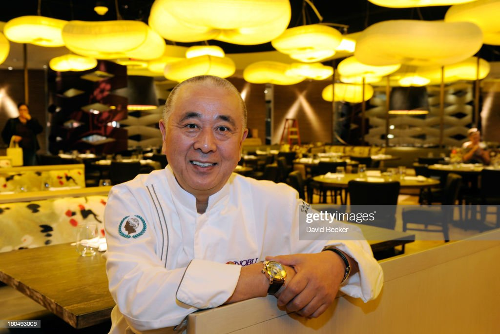 Chef <a gi-track='captionPersonalityLinkClicked' href=/galleries/search?phrase=Nobu+Matsuhisa&family=editorial&specificpeople=4292658 ng-click='$event.stopPropagation()'>Nobu Matsuhisa</a> appears during a preview for the Nobu Restaurant and Lounge Caesars Palace on February 1, 2013 in Las Vegas, Nevada. The Nobu Hotel Restaurant and Lounge Casears Palace is scheduled to open on February 4.