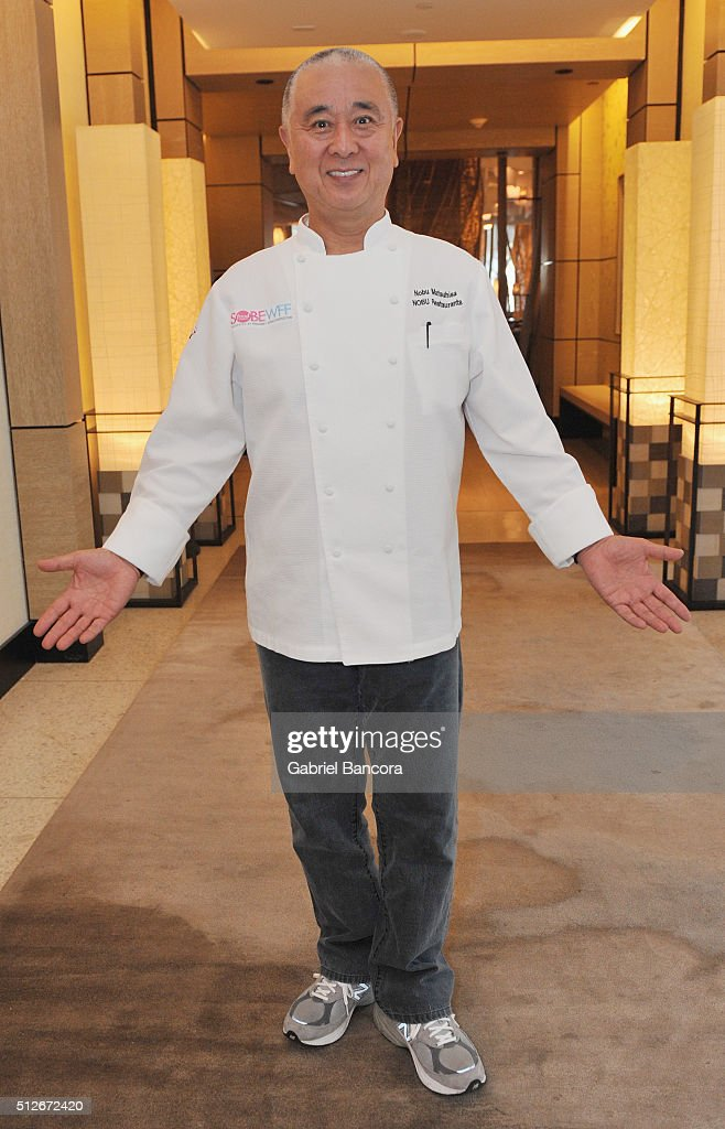Chef <a gi-track='captionPersonalityLinkClicked' href=/galleries/search?phrase=Nobu+Matsuhisa&family=editorial&specificpeople=4292658 ng-click='$event.stopPropagation()'>Nobu Matsuhisa</a> attends A Lunch Hosted By <a gi-track='captionPersonalityLinkClicked' href=/galleries/search?phrase=Nobu+Matsuhisa&family=editorial&specificpeople=4292658 ng-click='$event.stopPropagation()'>Nobu Matsuhisa</a> And Jose Garces during 2016 Food Network & Cooking Channel South Beach Wine & Food Festival Presented By FOOD & WINE at Nobu At Eden Roc on February 27, 2016 in Miami Beach, Florida.