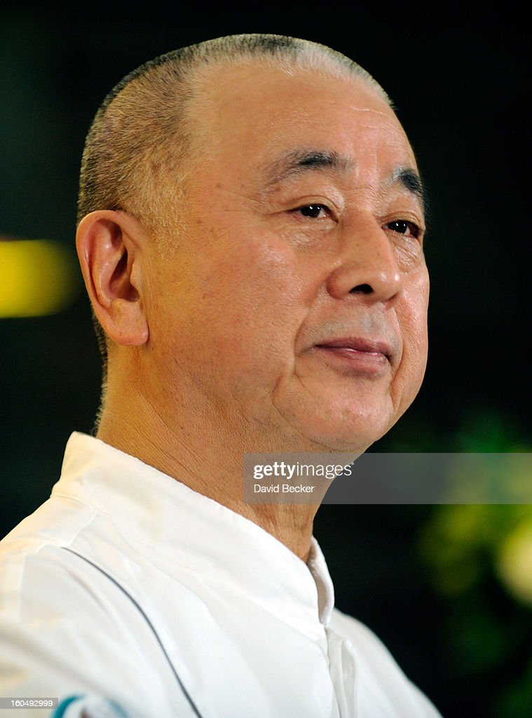 Chef Nobu Matsuhisa speaks during a preview for the Nobu Restaurant and Lounge Caesars Palace on February 1, 2013 in Las Vegas, Nevada. The Nobu Hotel Restaurant and Lounge Casears Palace is scheduled to open on February 4.