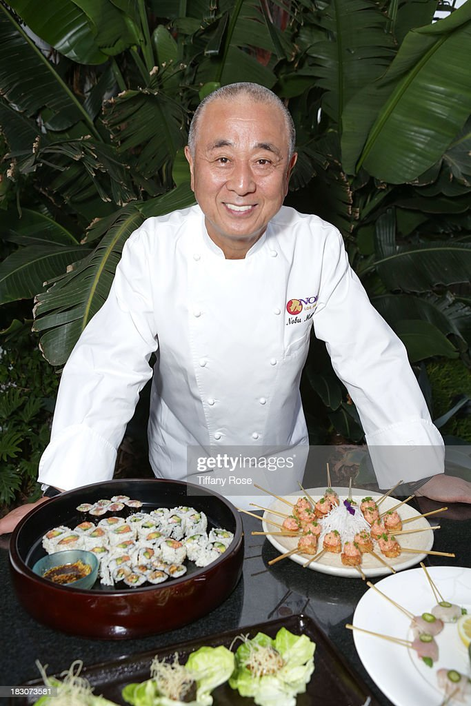 Chef Nobu poses at 'A Night with <a gi-track='captionPersonalityLinkClicked' href=/galleries/search?phrase=Nobu+Matsuhisa&family=editorial&specificpeople=4292658 ng-click='$event.stopPropagation()'>Nobu Matsuhisa</a>' at the W Residences on October 3, 2013 in Hollywood, California.