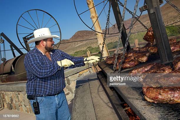 Chef of Western-Style Barbecue im Südwesten der USA