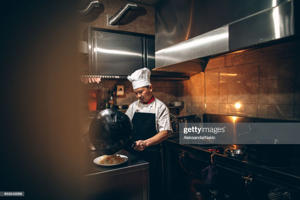 Chef on his workplace : Stock Photo