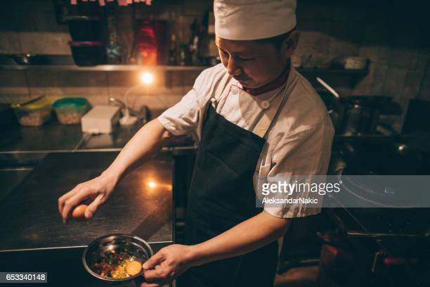 Chef on his workplace