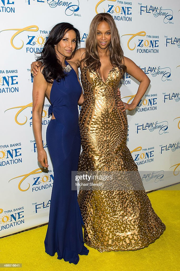 Chef Padma Lakshmi (L) and model Tyra Banks attends Tyra Banks' Flawsome Ball 2014 at Cipriani Wall Street on May 6, 2014 in New York City.