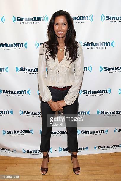 Chef Padma Lakshmi visits SiriusXM studios on September 15 2011 in New York City