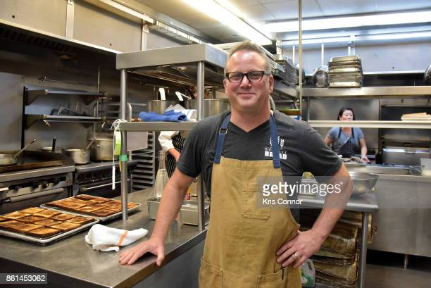 Chef Paul Kahan poses in the kitchen during a Dinner with Paul Kahan and Marc Vetri part of the Bank of America Dinner Series presented by The Wall...