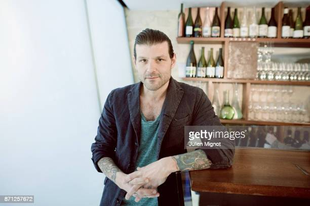 Chef Pierre Jancou is photographed for Grazia Magazine on March 2015 in Paris France