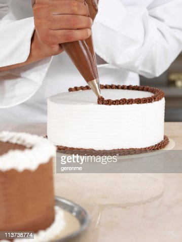 Chef piping cream