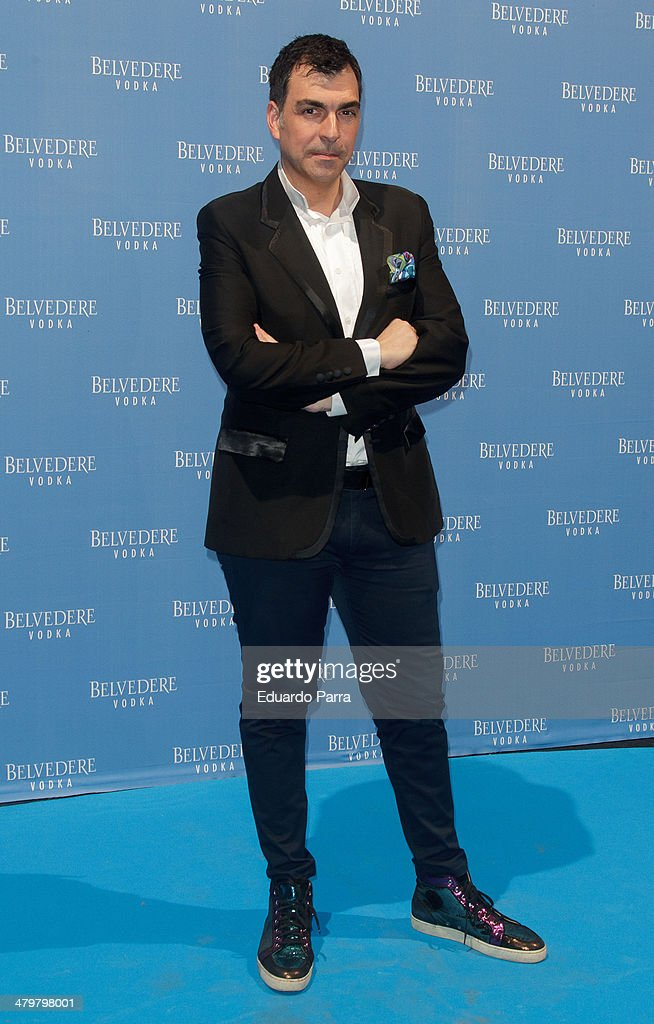 Chef Ramon Freixa attends Belvedere Vodka party photocall at Principe Pio train station on March 20, 2014 in Madrid, Spain.