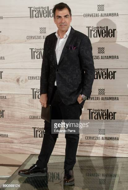 Chef Ramon Freixa attends the 'Conde Nast Traveler Gastronomic and Wine Guide' photocall at Florida Retiro on December 11 2017 in Madrid Spain