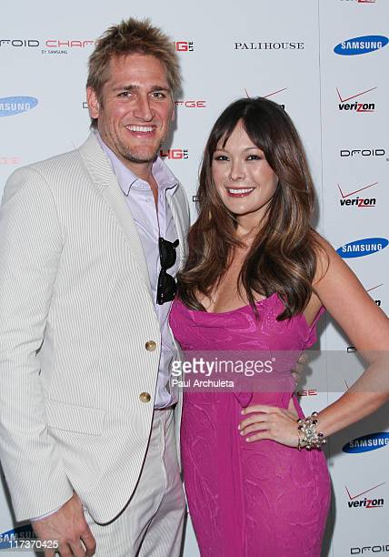 Chef / Reality TV Personality Curtis Stone and Actress Lindsay Price arrive at the DROID charge by Samsung launch party and Kentucky Derby viewing at...