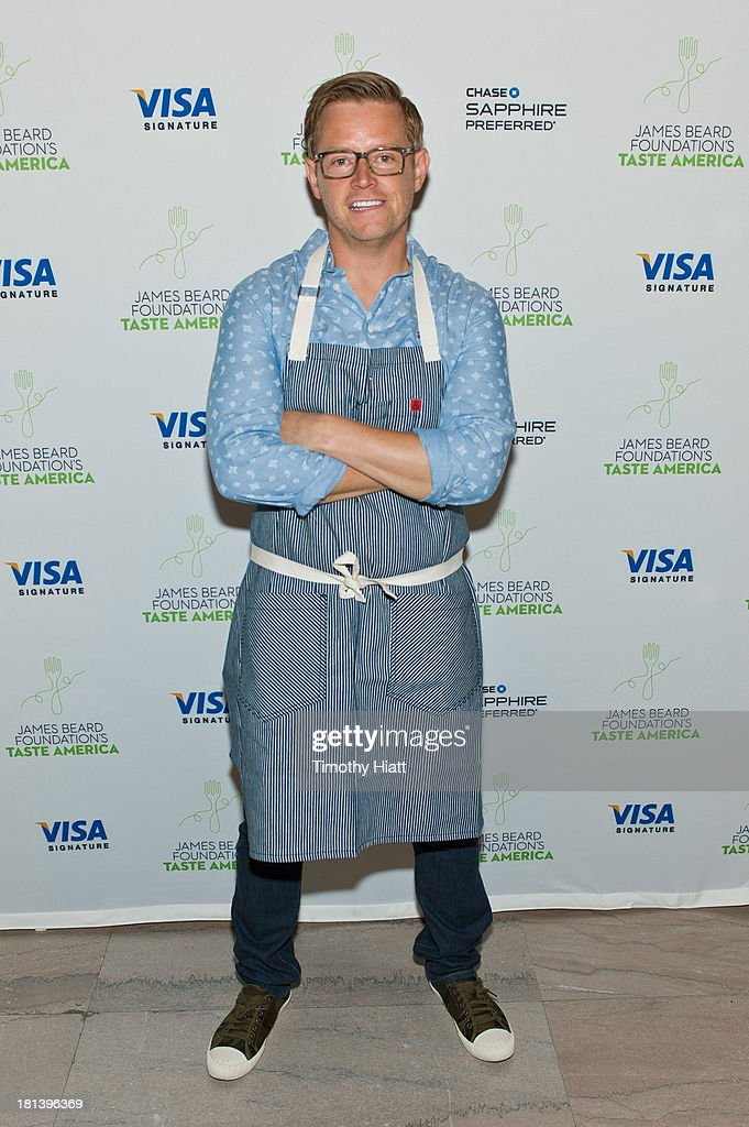 Chef Richard Blais hosts guests and Chase Sapphire Preferred Visa Signature cardholders at The James Beard Foundation's Taste America: Local Flavor from Coast to Coast benefit dinner on September 20, 2013 in Chicago, Illinois.