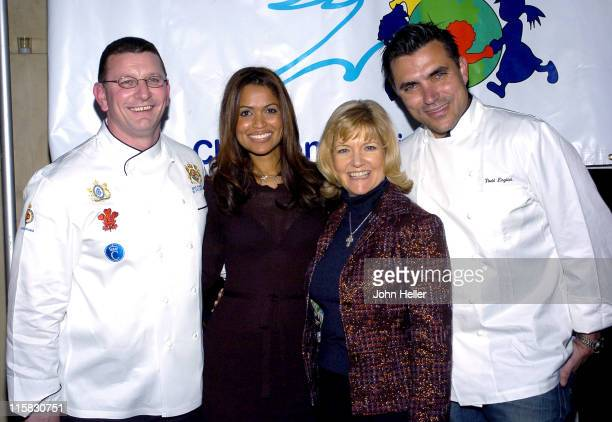 Chef Robert P Irvine Tracey Edmonds Sharon Davis of Children Uniting Nations and Chef Todd English