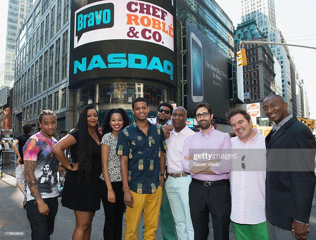 Chef Roble Ali and Company visit NASDAQ MarketSite on July 16, 2013 in New York City.