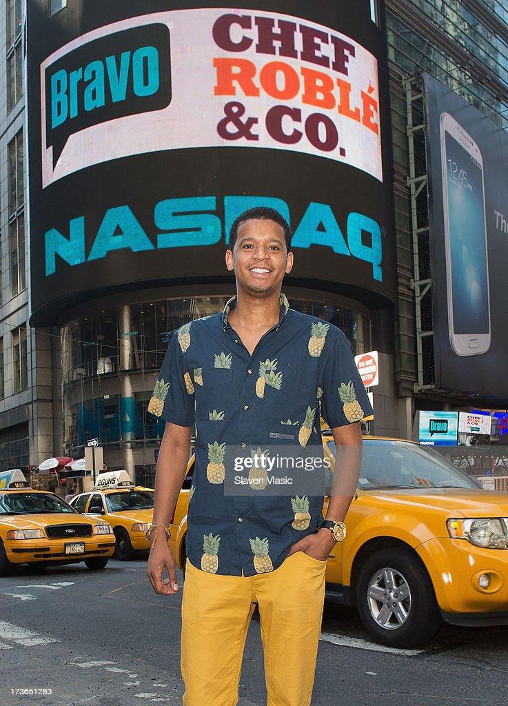 Chef Roble Ali visits NASDAQ MarketSite on July 16, 2013 in New York City.