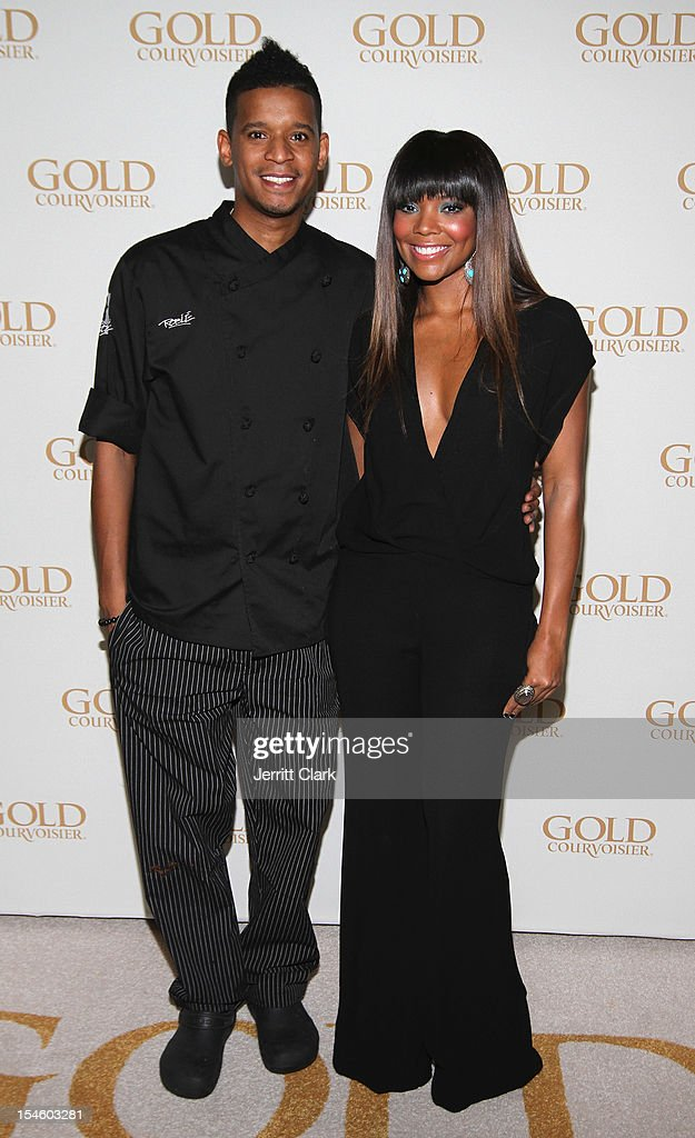 Chef Roble and <a gi-track='captionPersonalityLinkClicked' href=/galleries/search?phrase=Gabrielle+Union&family=editorial&specificpeople=202066 ng-click='$event.stopPropagation()'>Gabrielle Union</a> attend her 40th Birthday Party With Courvoisier Gold at the Dream Downtown on October 22, 2012 in New York City.
