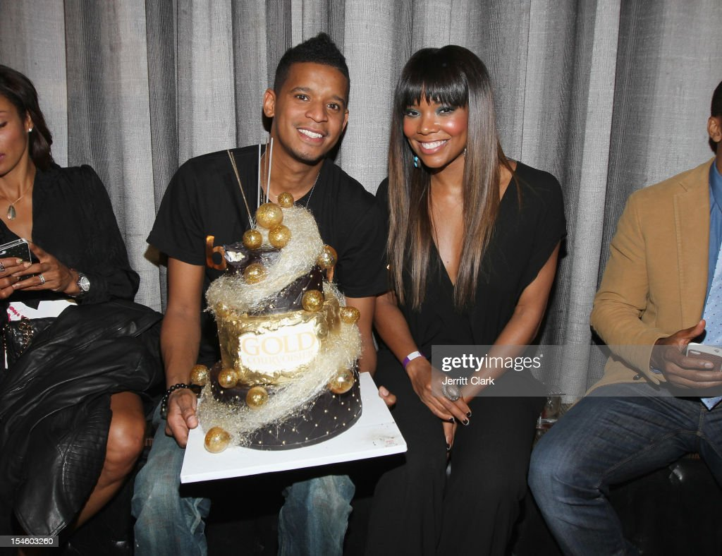 Chef Roble and Gabrielle Union celebrate her 40th Birthday Party With Courvoisier Gold at the Dream Downtown on October 22, 2012 in New York City.