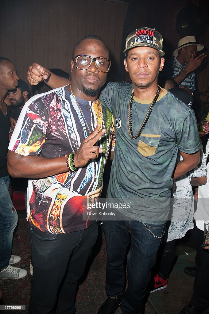 DJ MOS & Chef Roble attend the MTV VMAs After Party at Mister H on August 25, 2013 in New York City.