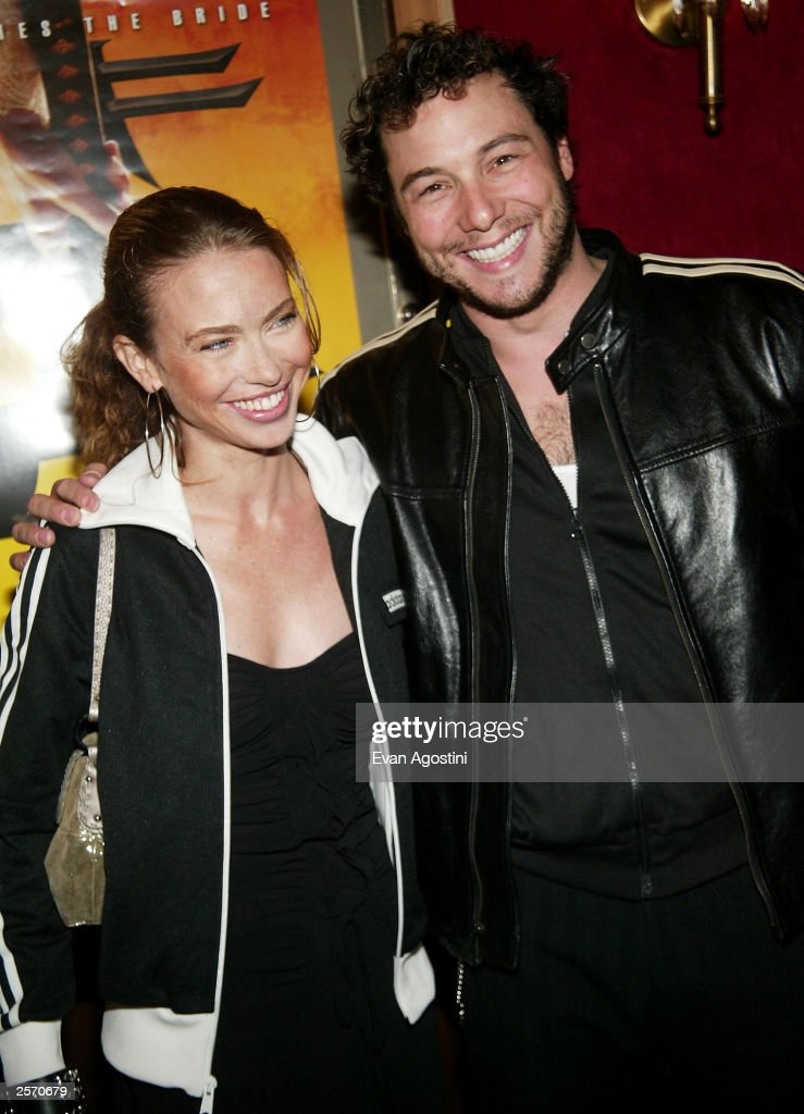 Chef Rocco DiSpirito and girlfriend attend the New York Premiere of Quentin Tarantino's 'Kill Bill Vol 1' at the Ziegfeld Theater October 7 2003 in...