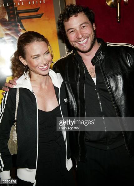 Chef Rocco DiSpirito and girlfriend attend the New York Premiere of Quentin Tarantino's 'Kill Bill Vol 1' at the Ziegfeld Theater October 7 2003 in...