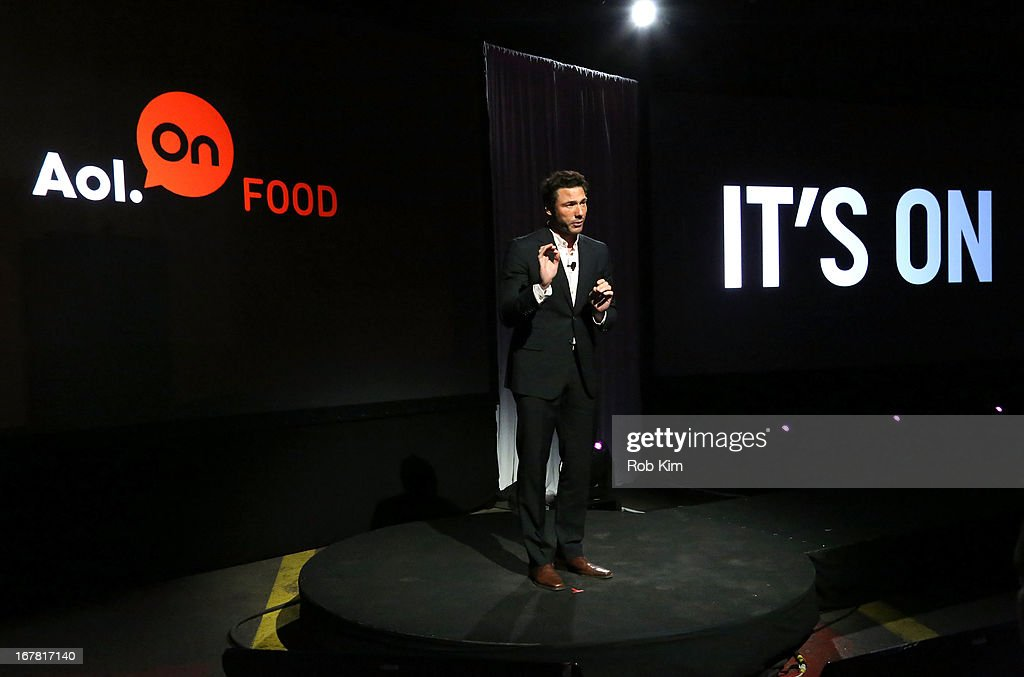 Chef Rocco DiSpirito speaks onstage at the AOL 2013 Digital Content NewFront on April 30, 2013 in New York City.