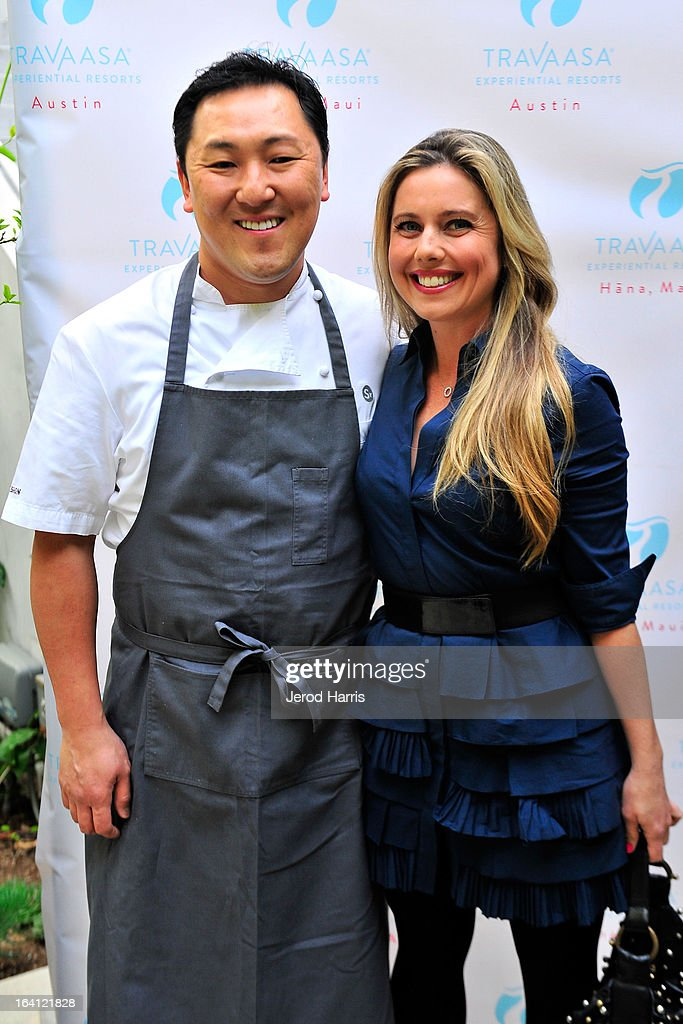 Chef Sang Yoon and Laurel House attend Travaasa Resorts official LA experience event at Kinara Spa on March 19, 2013 in Los Angeles, California.