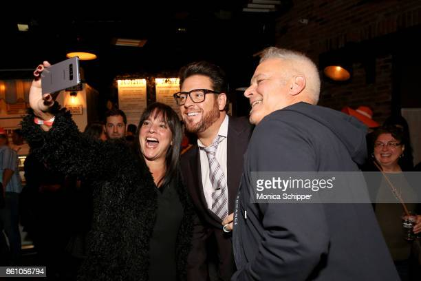 Chef Scott Conant poses for a selfie with guests during Aperitivo hosted by Scott Conant at The Standard High Line on October 13 2017 in New York City
