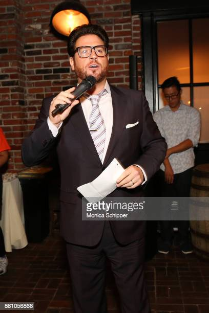 Chef Scott Conant speaks during Aperitivo hosted by Scott Conant at The Standard High Line on October 13 2017 in New York City