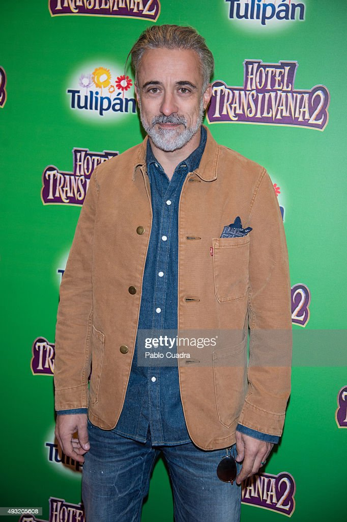 Chef Sergi Arola attends the 'Hotel Transilvania 2' premiere at the Capitol cinema on October 17 2015 in Madrid Spain