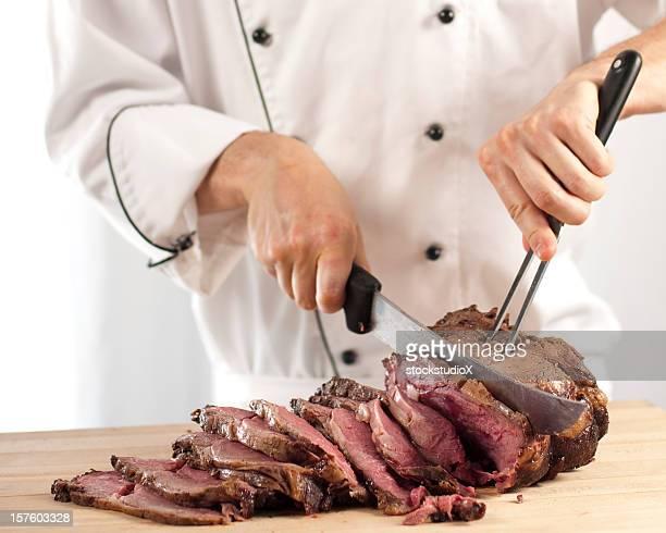 Chef Affettare cotti prime Costola arrosto di manzo