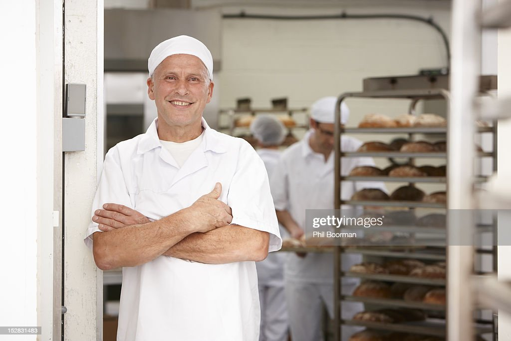 Chef smiling in kitchen