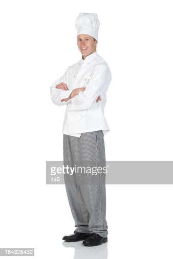 Chef standing with arms crossed