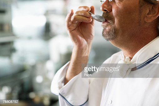 Chef Tasting His Cooking