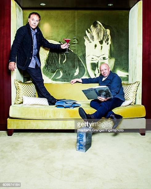 Chef Thierry Marx and cartoonist Enki Bilal are photographed for Madame Figaro on July 13 2016 in Paris France PUBLISHED IMAGE CREDIT MUST READ...